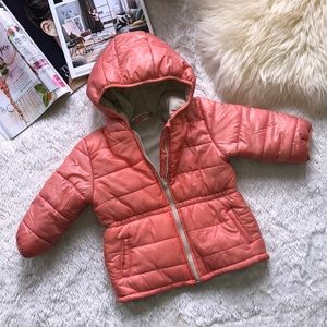 Other - Coral/tan colored winter jacket for toddler girl